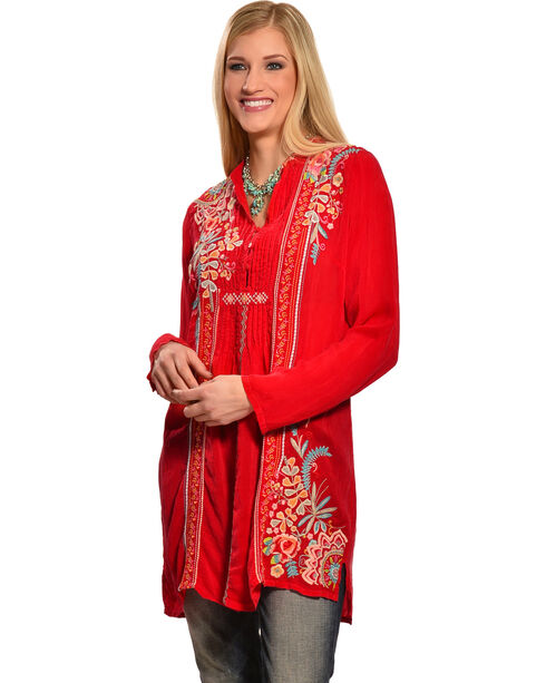 Johnny Was Women's Sheela Tunic, Pink, hi-res