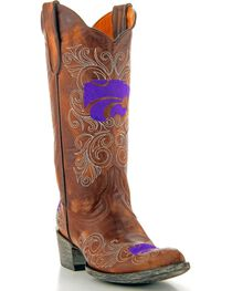 Gameday Kansas State University Cowgirl Boots - Pointed Toe, , hi-res