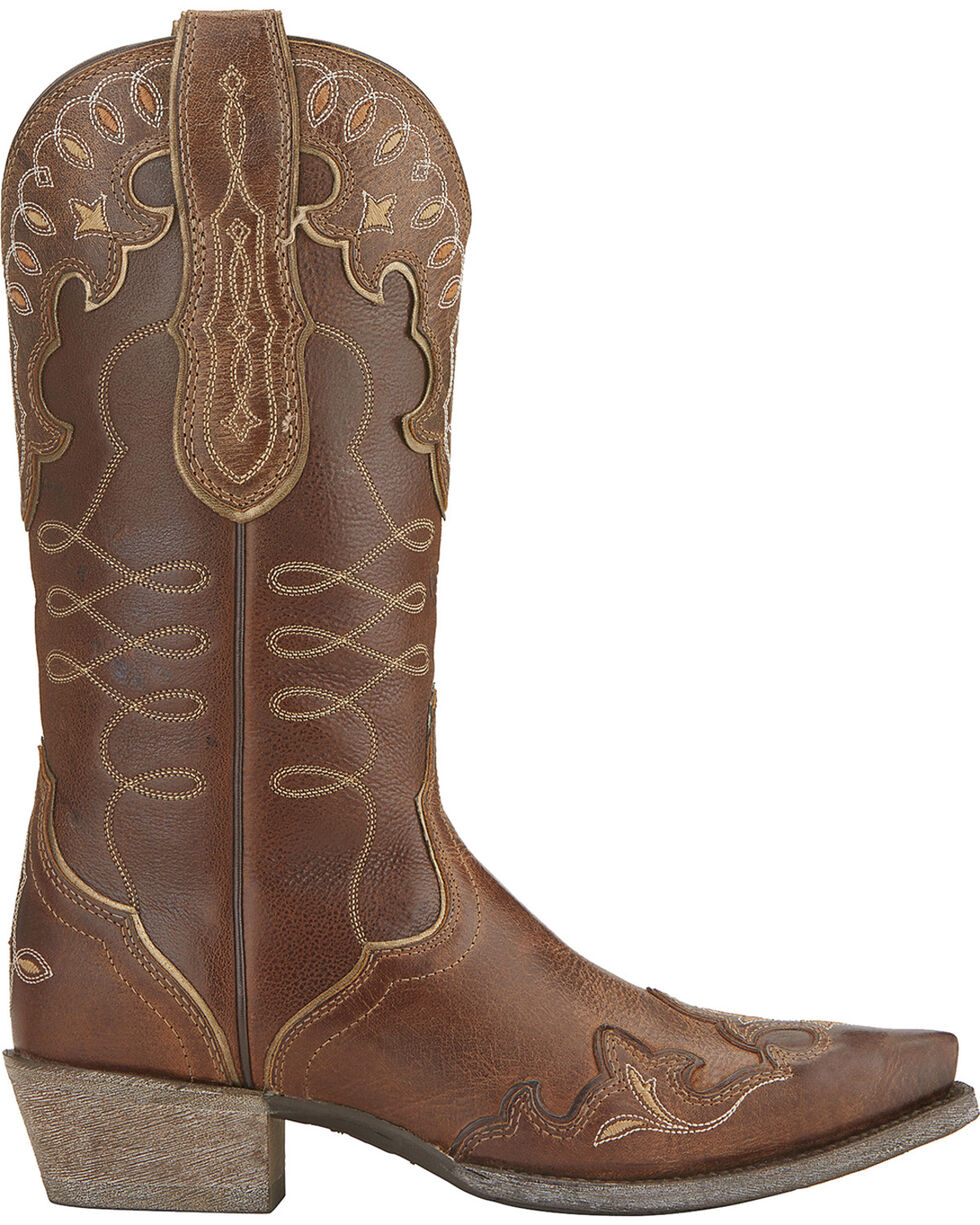 Ariat Women's Zealous Wingtip Western Boots, , hi-res