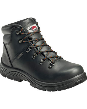 Avenger Men's Waterproof Steel Toe Hikers, Black, hi-res