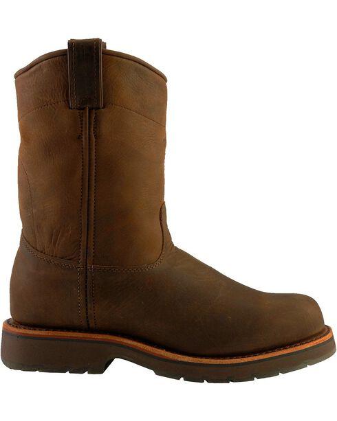 "Chippewa Men's Steel Toe 10"" Pull Work Boots, Chocolate, hi-res"