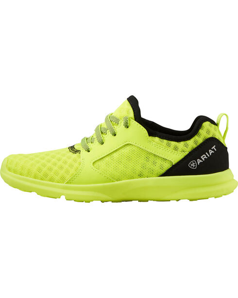 Ariat Boys' Fuse Neon Yellow Mesh Shoes, , hi-res