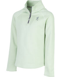 Browning Girls' Green Zinnia Quarter Zip Pullover , , hi-res