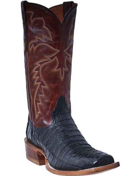 Dan Post Men's Cowboy Certified Caiman Western Boots, Black, hi-res