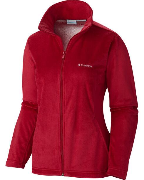 Columbia Women's Hotdots II Full Zip Fleece Jacket, Red, hi-res