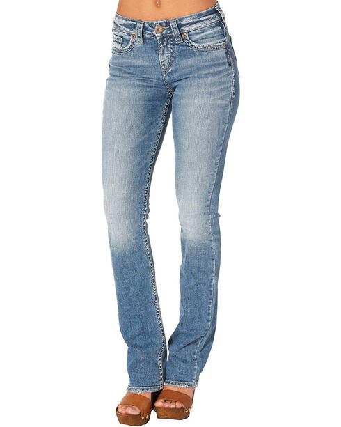 Silver Jeans Women's Avery Slim Boot Cut Jeans, Indigo, hi-res