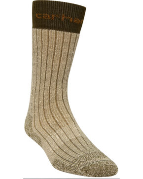 Carhartt Moss Steel Toe Arctic Wool Boot Socks, Moss, hi-res
