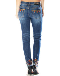 Grace in LA Women's Aztec Embroidered Jeans - Skinny , , hi-res