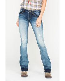 Miss Me Women's Indigo Step It Up Jeans - Boot Cut , , hi-res