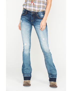 Miss Me Women's Indigo Step It Up Jeans - Boot Cut , Indigo, hi-res