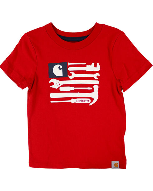 Carhartt Kids' Tools and Stripes T-Shirt, Red, hi-res