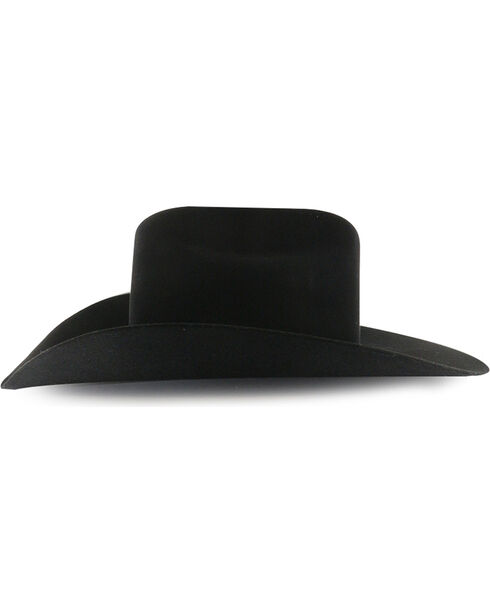 Rodeo King Men's Low Rodeo 7X Felt Cowboy Hat, Black, hi-res