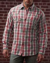 Ryan Michael Men's Large Aztec Dobby Plaid Shirt, , hi-res