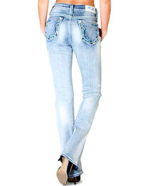 Grace in LA Women's Faded Easy Fit Jeans, , hi-res
