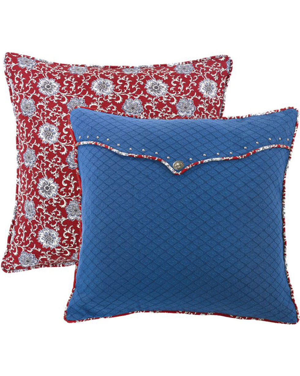 HiEnd Accents Bandera Envelope Euro Sham Accent Pillow, Blue, hi-res