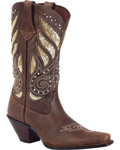 Crush by Durango Women's Bling Western Boots, Brown, hi-res