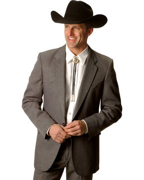 Circle S Lubbock Suit Coat - Big and Tall, Hthr Grey, hi-res