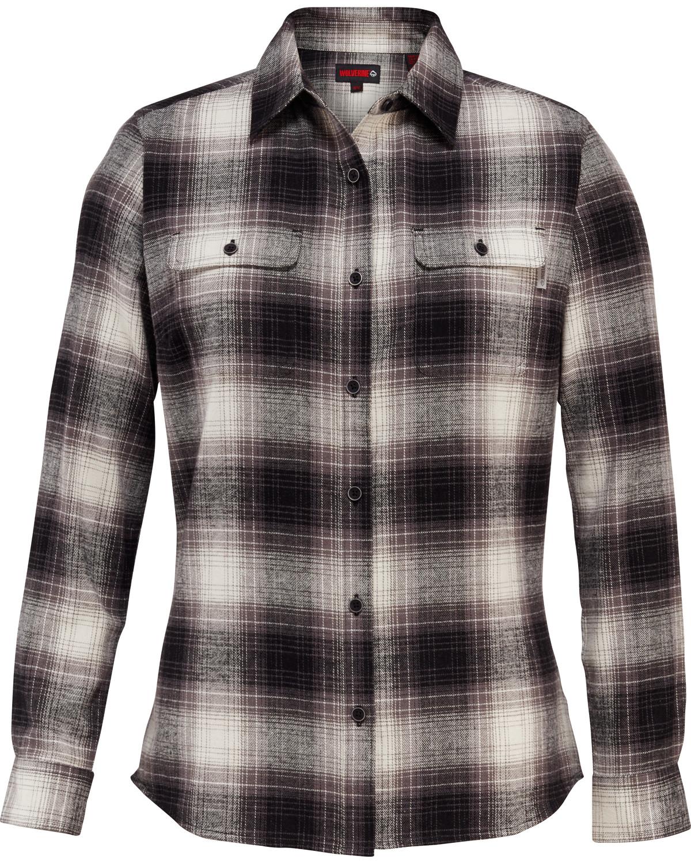 Wolverine women 39 s aurora flannel shirt boot barn for Best flannel shirt brands
