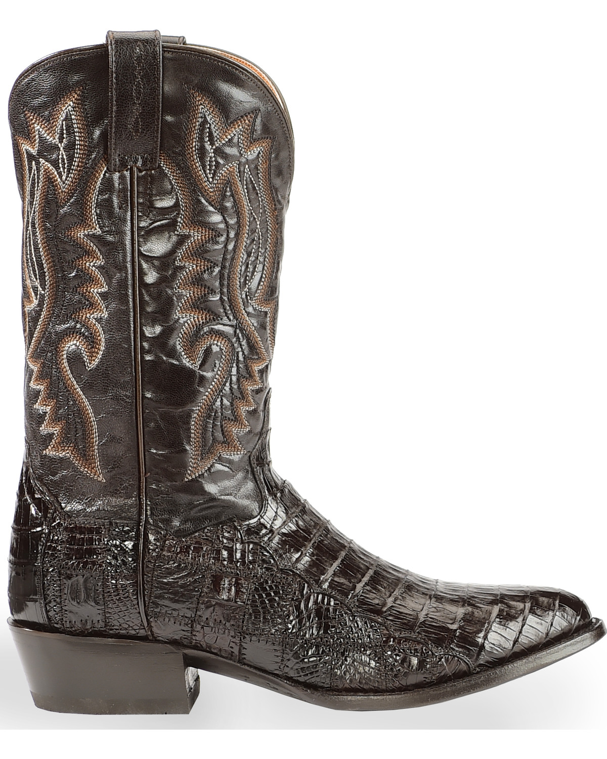 Dan Post Men S Everglades Chocolate Belly Caiman Cowboy