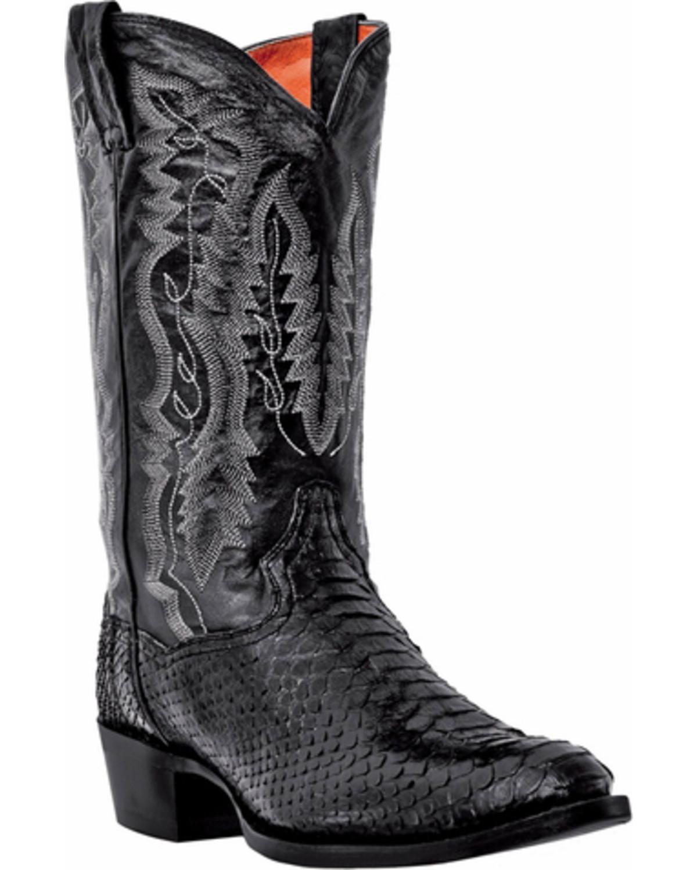 Dan Post Men S Omaha Python Cowboy Boots Round Toe Black Hi Res