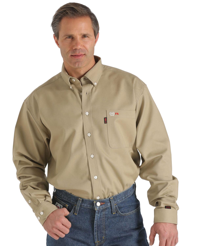 Cinch Wrx Flame Resistant Solid Khaki Shirt Boot Barn