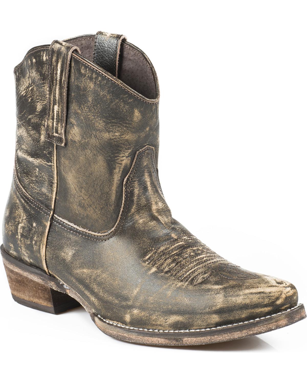 Unique Womenu0026#39;s Dingo Bridget Short Western Ankle Boots | Womens Shoes | Peltz Shoes