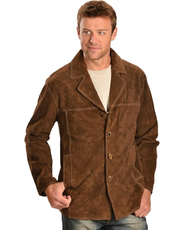 Scully Men's Boar Suede Car Coat