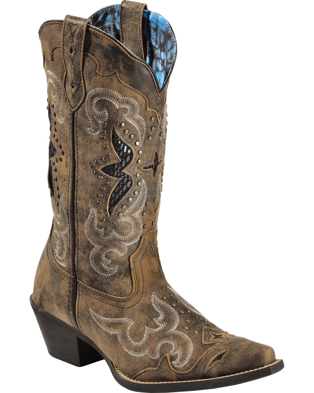 Laredo Women S Snake Underlay Western Boots Boot Barn