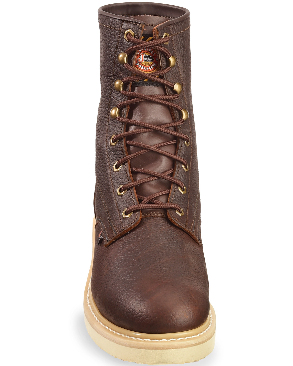 Justin Men S Wedge 8 Quot Lace Up Work Boots Boot Barn