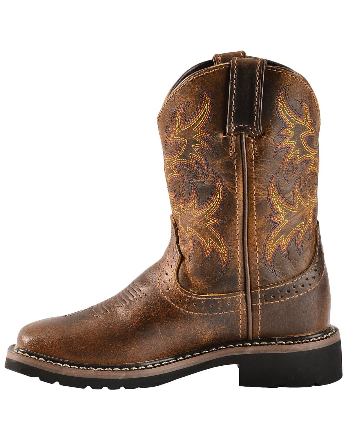 Justin Youth Boys Stampede Work Boots Square Toe Boot