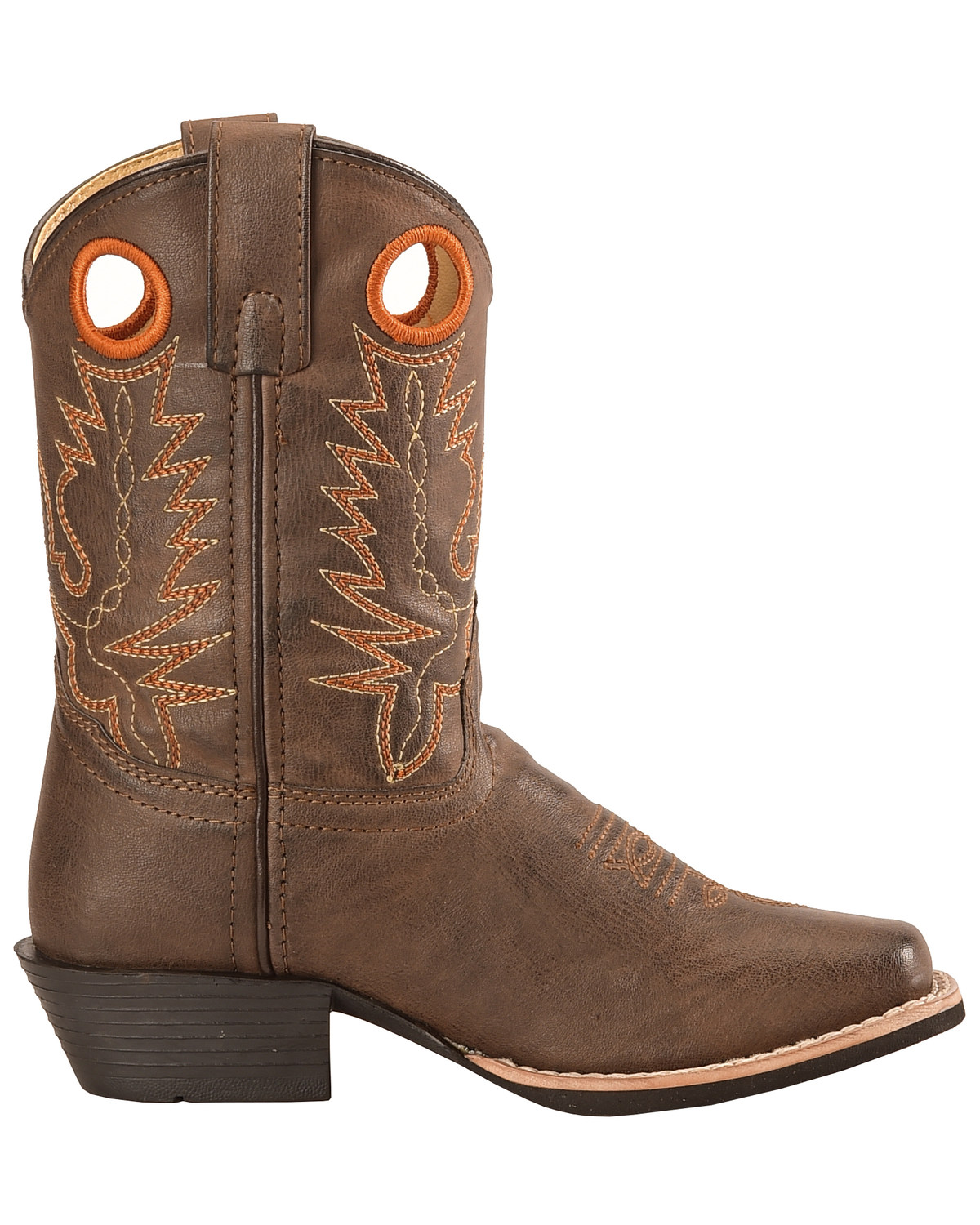 Swift Creek Youth Boys Brown Pull Hole Cowboy Boots