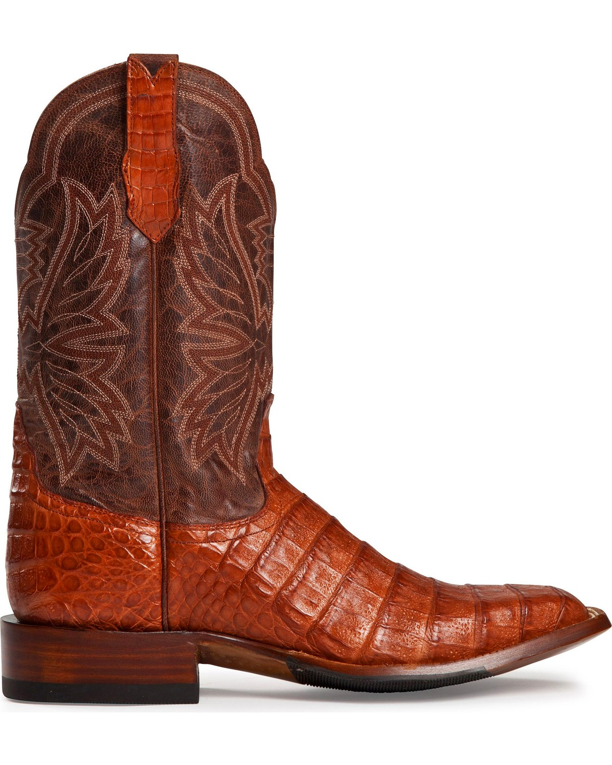 Cinch Classic Cognac Caiman Belly Mad Dog Cowboy Boots