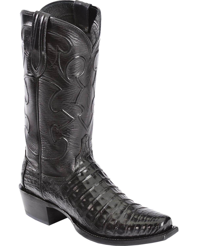 Lucchese Men S Charles John Wayne Crocodile Western Boots