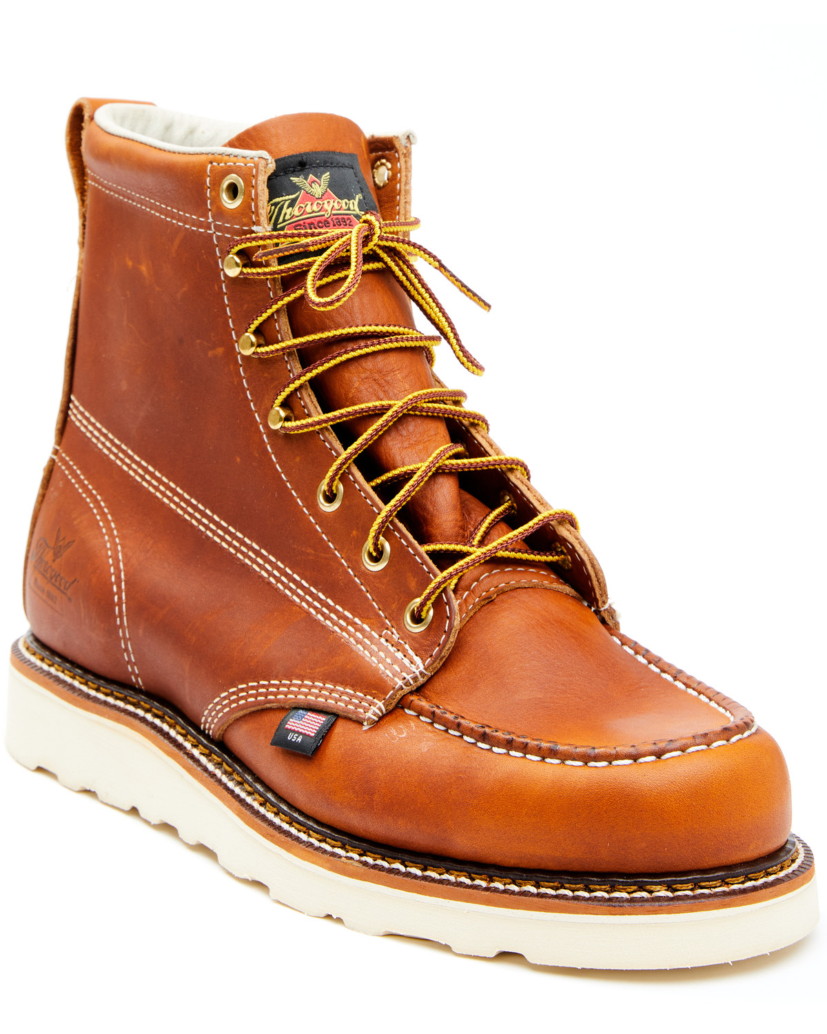 Thorogood Men S 6 Quot Moc Toe Lace Up Work Boots Boot Barn