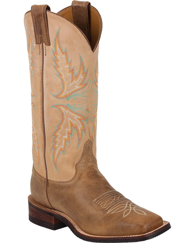 Brilliant Justin Womens Bent Rail 12u0026quot; Square Toe Cowboy Boots - Tan Road
