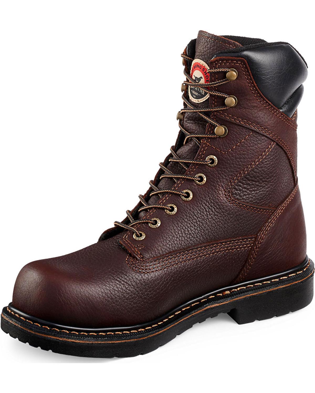 Chaussures Rouges Aile Bottes À Lacets - Marron A5zV49dwf6