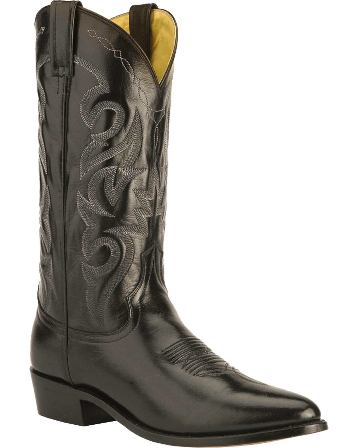 Dan Post Mens Milwaukee Western Boots, Black, hi-res