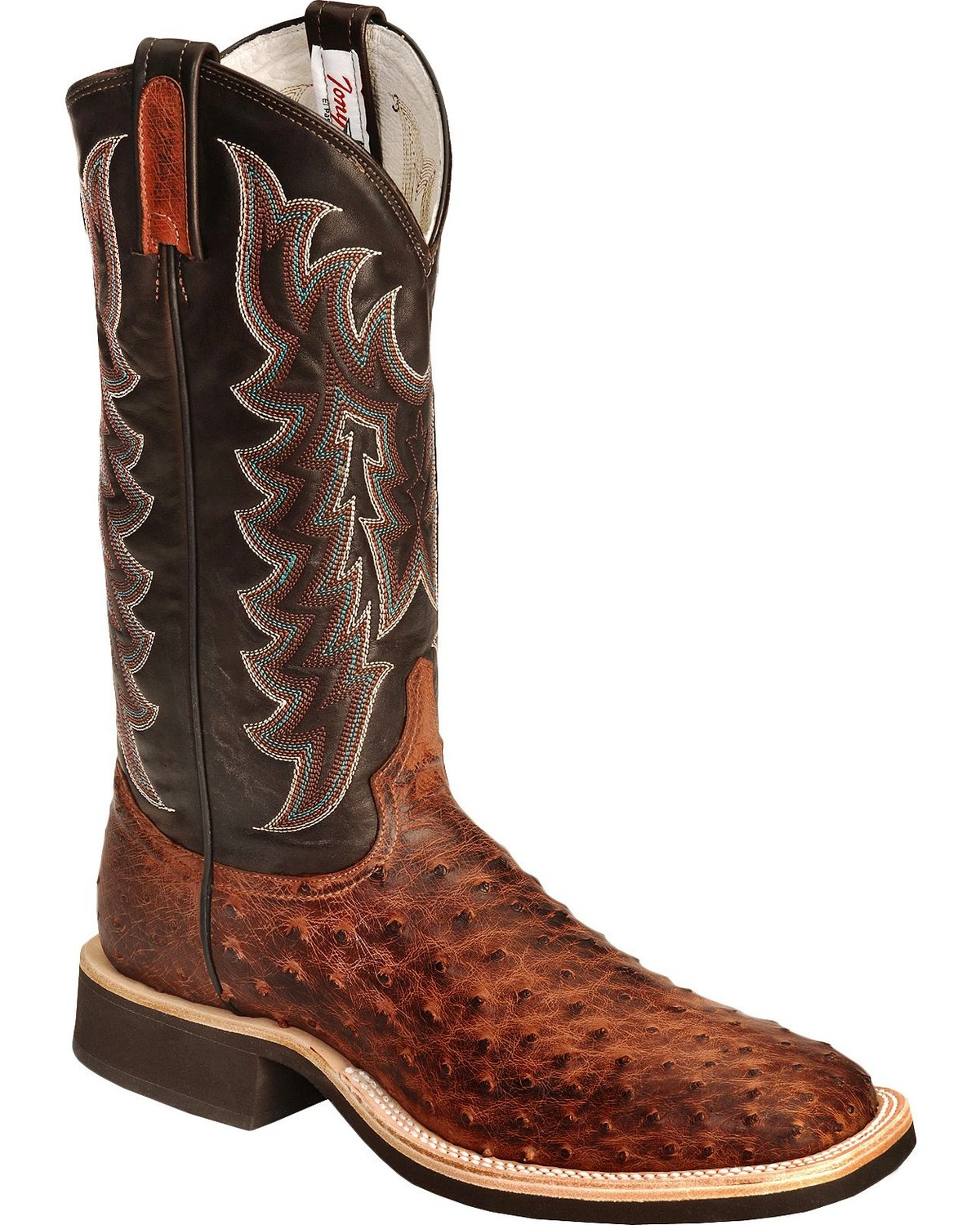 Tony Lama Vintage Full Quill Ostrich Crepe Cowboy Boots