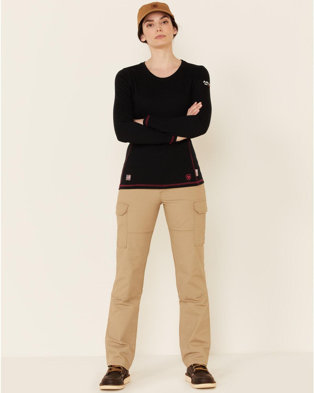 Ariat women 39 s flame resistant polartec powerdry work shirt for Flame resistant work shirts