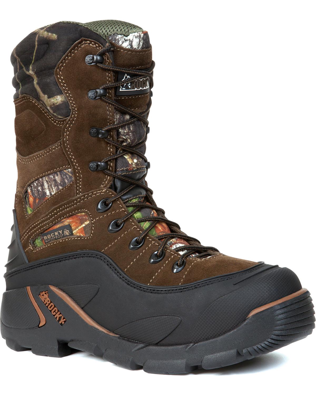 Rocky Mens Blizzard Stalker PRO Boots, Mossy Oak, hi-res