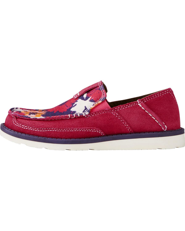 Ariat youth girls pink flower print cruiser shoes moc toe boot barn ariat youth girls pink flower print cruiser shoes moc toe pink hi mightylinksfo