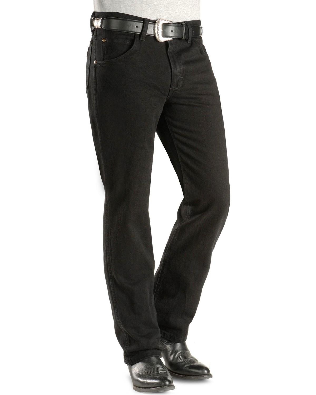 wrangler jeans cowboy cut 36 mwz slim fit black boot barn. Black Bedroom Furniture Sets. Home Design Ideas