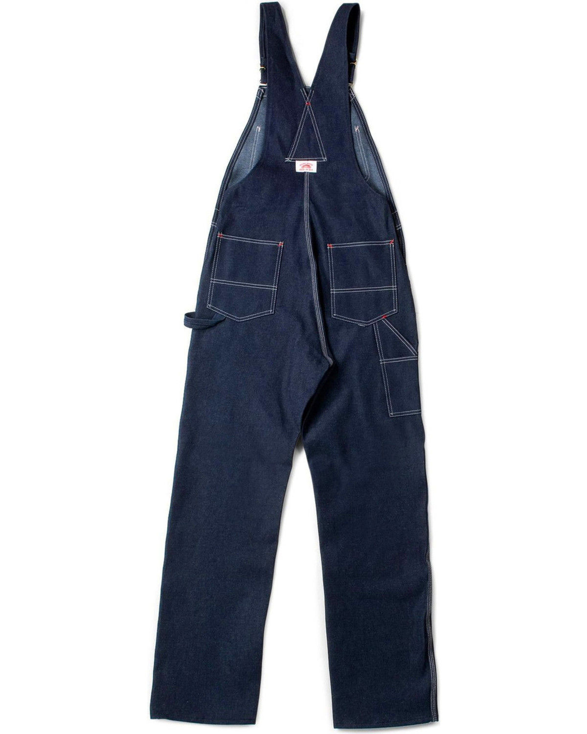 Round house men 39 s blue classic fly bib overalls big boot barn - Roundhouse bib overalls ...