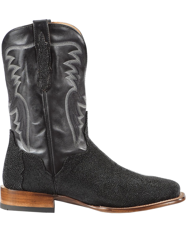 El Dorado Men S Handmade Stingray Stockman Boots Square