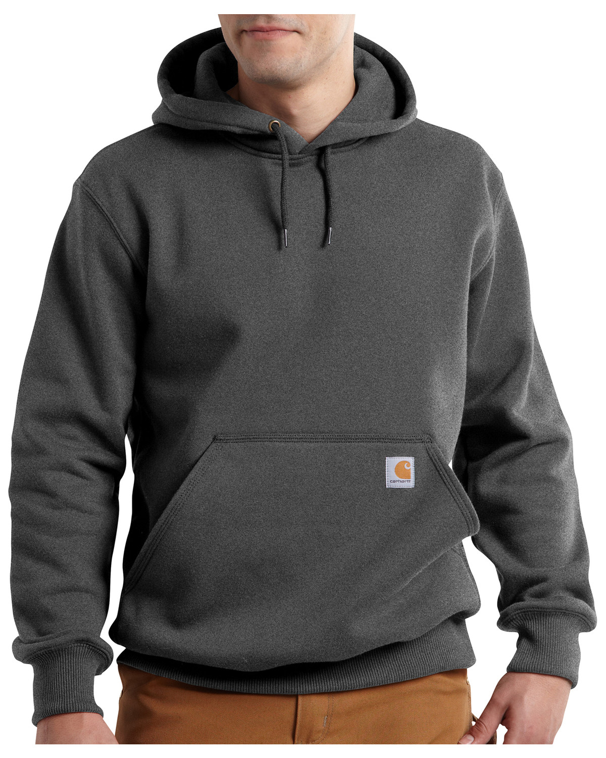 Carhartt Rain Defender Paxton Heavyweight Hooded Sweatshirt - Big & Tall,  Dark Grey, hi