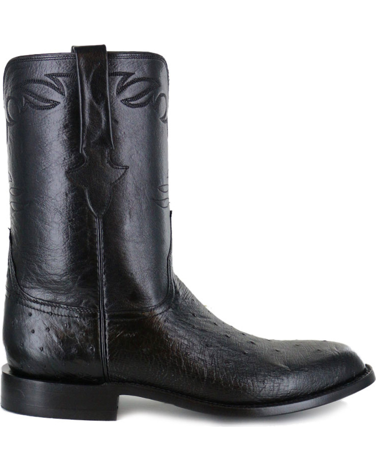 Lucchese Men S Ward Smooth Ostrich Roper Boots Boot Barn
