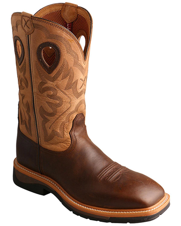 Twisted X Hazel Lite Weight Cowboy Work Boots Steel Toe
