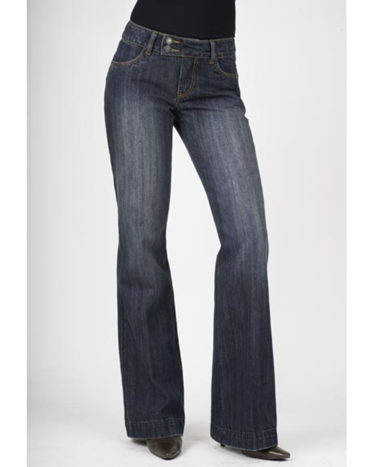 Stetson Womenu0026#39;s 214 Fit City Dark Indigo Trouser Jeans | Boot Barn