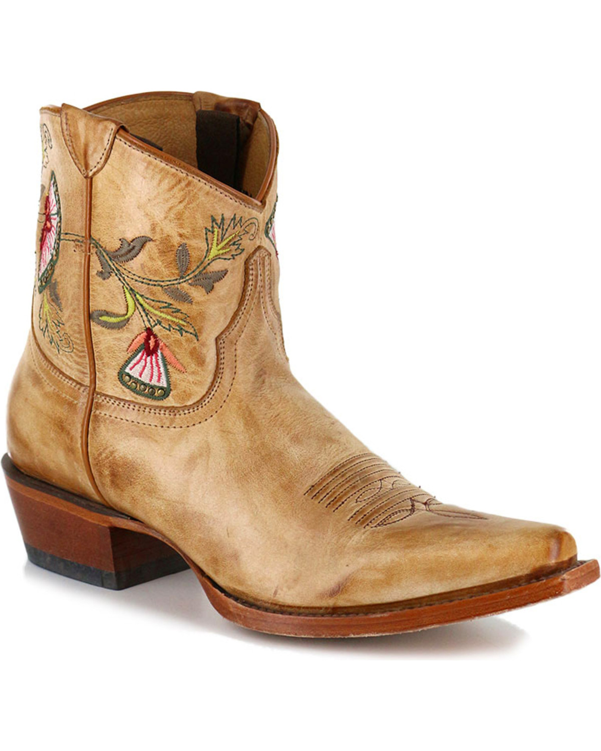 shyanne women 39 s floral embroidered western booties boot barn. Black Bedroom Furniture Sets. Home Design Ideas
