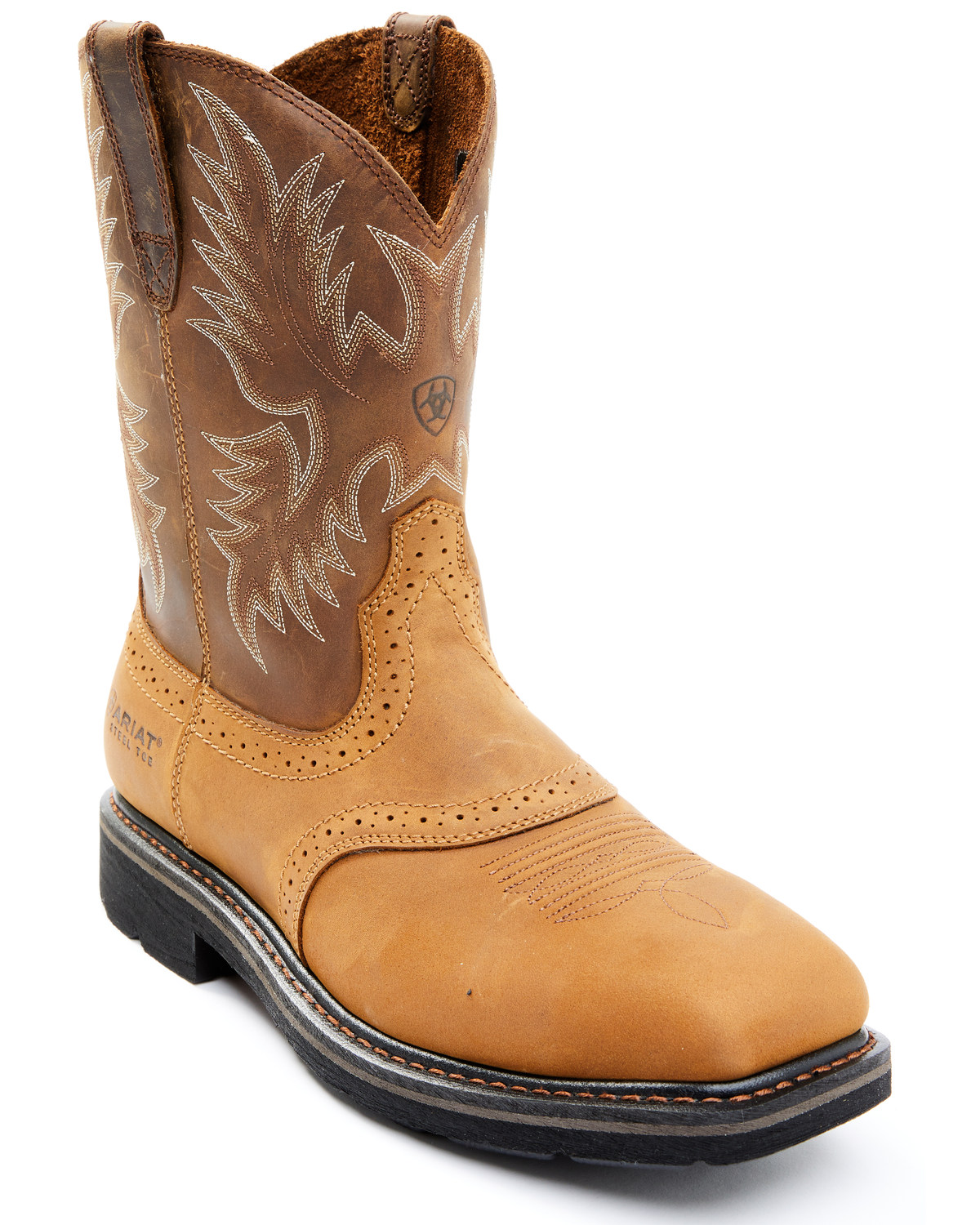 ariat s steel square toe western work boots